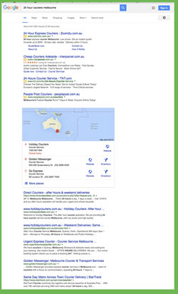 google search homepage without sidebar adwords
